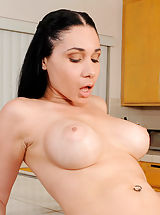 Hard Nipples, Anilos Tacori Blu gets her pussy rammed and gets jizz all over her face