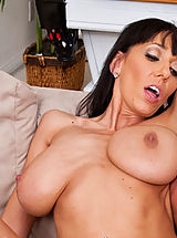 Big.Tits Pics: Horny Alia Janine fucks and sucks a hard dick.