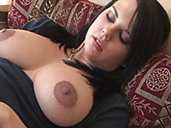Milky Nipples, Julie fucks a big sex toy