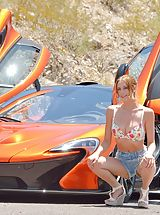 naked woman, Anya Supercar Spreads
