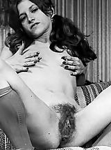 Vintage Dresses, Hairy Puffy Nippled Amateurs Pose In These Old Vintage Photos On Vintagecuties.Com