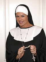 Retro Pics, Kelly the nun takes father Ryans virginity.