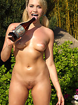 Micro Bikinis, New ALS Angels Model Mia Malkova Rams a Giant Bottle Up Her Sweet Pussy