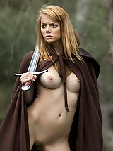 naked babe, WoW nude leia alone in the forest