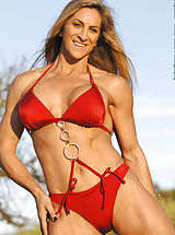 Cynthia Daniels, Red Suit and Chains