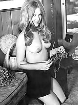 Enjoy These Vintage Photos of a Beautiful Naked Girl that Men Were Jerking on Back in 1960's Antique Porn Hits