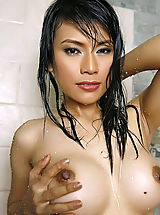 Hard Nipples, Asian Women wanda tai 14 shower vagina