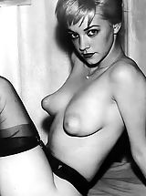 Huge Nipples, Retro Style Woman