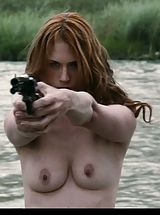 nipple stimulation, January Jones shows down her upset Mams in nude first!