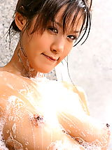 Erected Nipples, Asian Women irene fah 02 shower big nipples nice tits