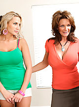 Milf Nippels, One lucky guy gets to screw both Alanah Rae and milf Deauxma in this sexy threesome