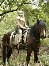 Vintage Pics: WoW nude monica forest picnic knight