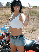 Naked Jeans, Jezebelle needed a ride, she's used to a hog between her legs this time it was Ryan's.