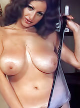 naked babe, Nika Movenka - the Big Busty Diva of Historic Magazines with Black Silk Love Mound Hairs in a Color Photos That Made Her Famous