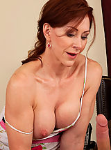 Milf Pics: Hot redhead milf loves the cock