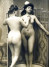 naked boobs, Rich and Filthy Dames of the 19 Century Posing Naked and Having Fun in the Rare Retro Photos of Circa 1895