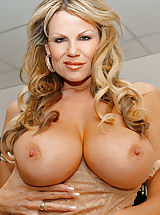 naked chicks, Kelly Madison takes a big cock in her mouth in a POV scene.