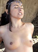 naked tits, WoW nude danica sex in the forest