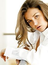 naked girls, Allie Haze Horny Babe uncovers her uncovered knockers, draws down her knickers and spreads her legs and masturbates her wet pussy