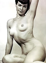 naked chicks, Previously Unreleased & Not Shown Black & White Vintage Erotica and Fetish Photos of Betty (Bettie) Page