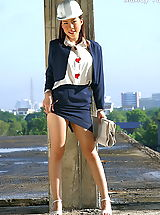 Upskirt Nippels, Asian Women mandy yun 01 construction secretary labia minora