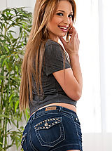 Naked Jeans, Young teen girl loves to swallow and get pumped by big cock.