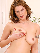 Big Nipples, Sultry Anilos Maiky pleasures her mature pussy with a sex toy in her bedroom