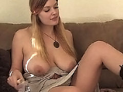 Fetish Vids: Danielle bangs herself with a dildo