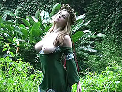 Teen Puffy Nipples, Danielle gets naught in the jungle