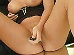 Bumps on Areola, Alison Angel plays with her new dildo