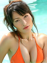 Asian Women kaila wang 06 bikini water hard nipples