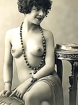 Vintage Nippels, Very Old Genuine Vintage Erotic Postcards with Naked Women from France Circa 1920